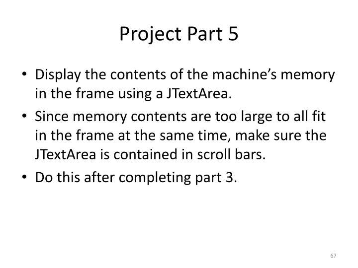 Project Part 5