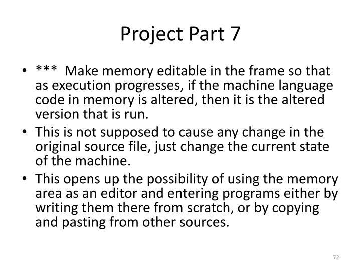 Project Part 7
