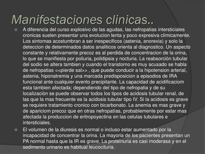 Manifestaciones clinicas..
