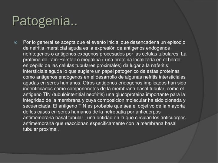 Patogenia..