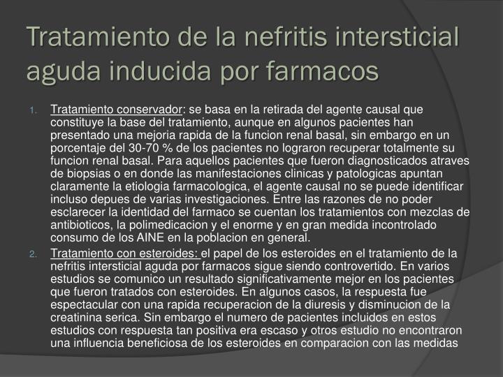 Tratamiento de la nefritis intersticial aguda inducida por farmacos