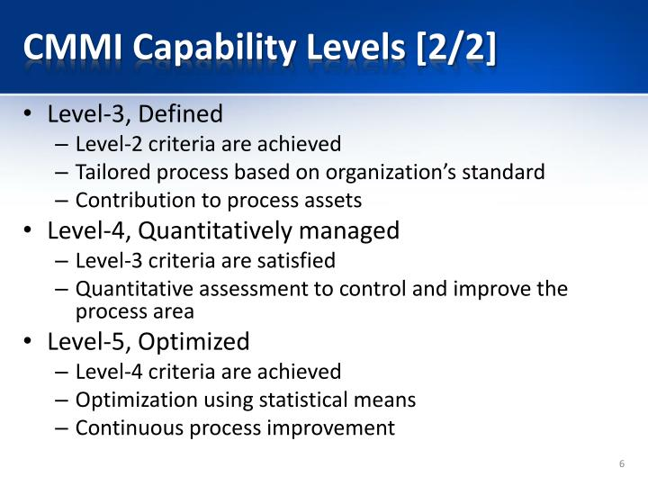 CMMI Capability Levels [2/2]