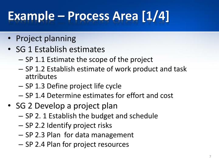 Example – Process Area [1/4]