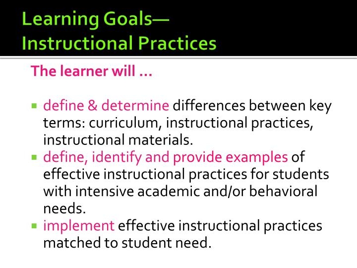 instructional practices in the classroom