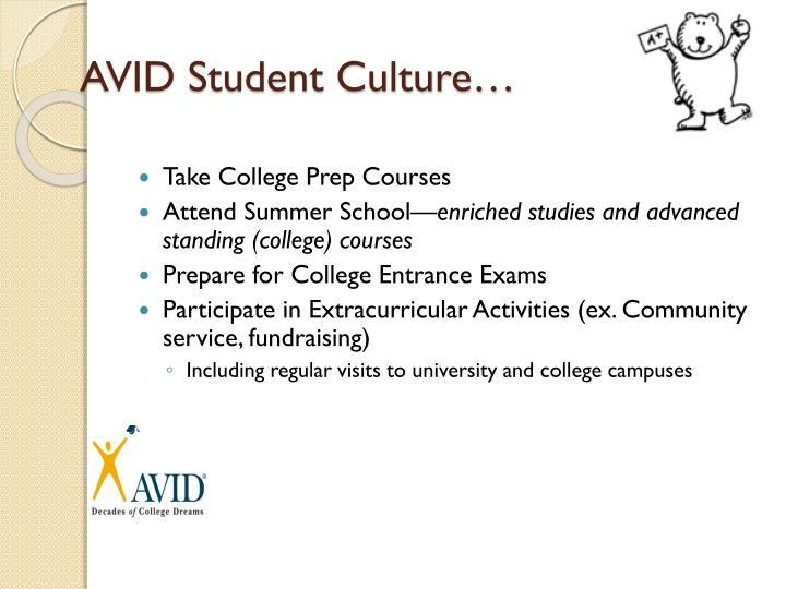 AVID Student Culture…
