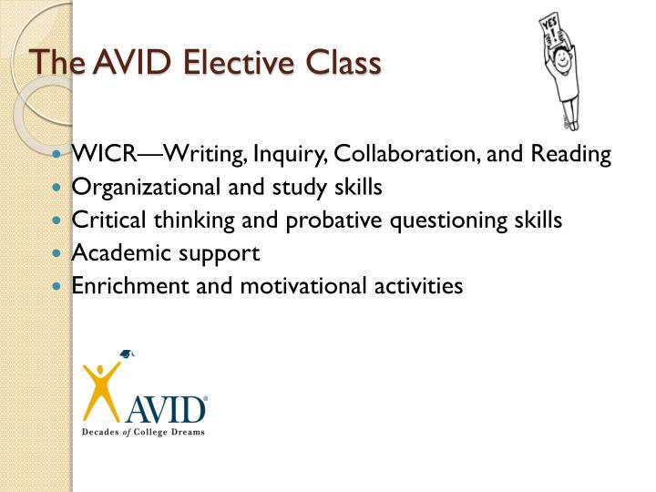 The AVID Elective Class