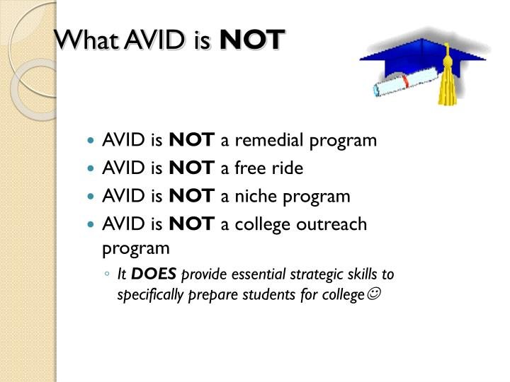 What avid is not
