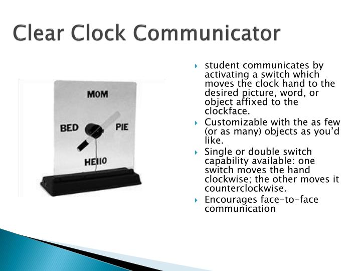 Clear Clock Communicator