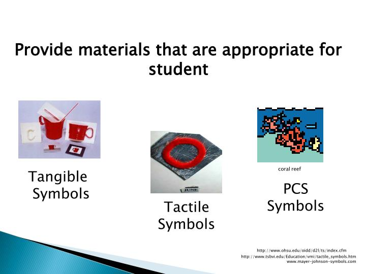 Provide materials that are appropriate for student