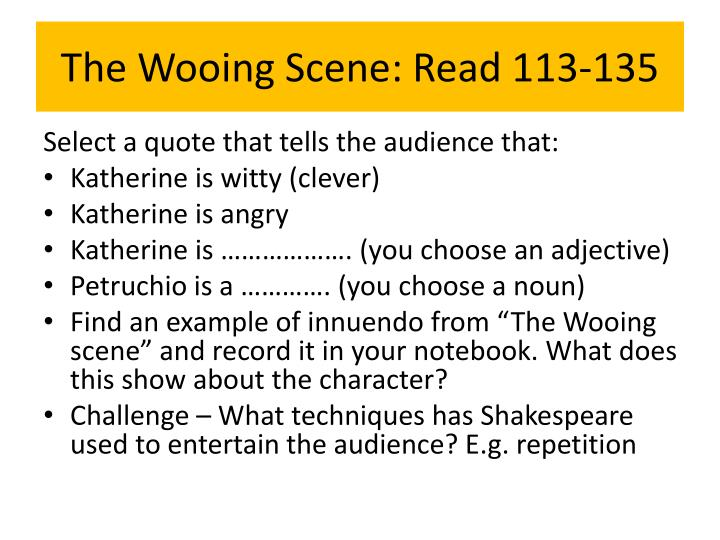 The Wooing