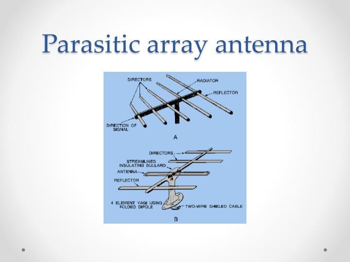 Parasitic array antenna