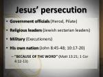 jesus persecution