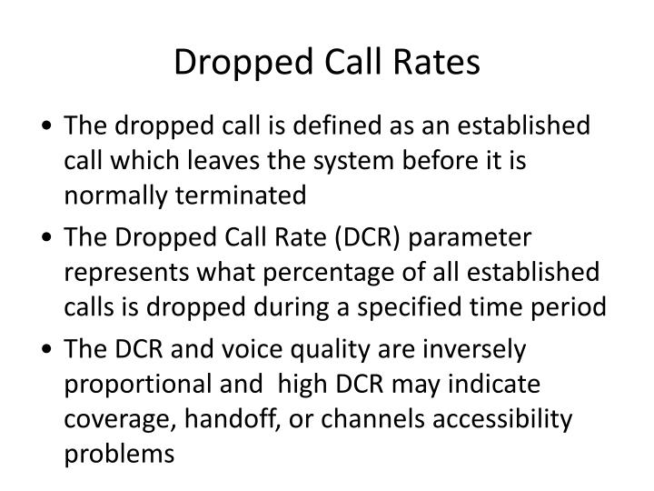 Dropped Call Rates