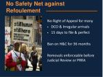 no safety net against refoulement