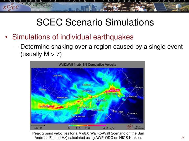 SCEC Scenario Simulations