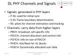 dl phy channels and signals