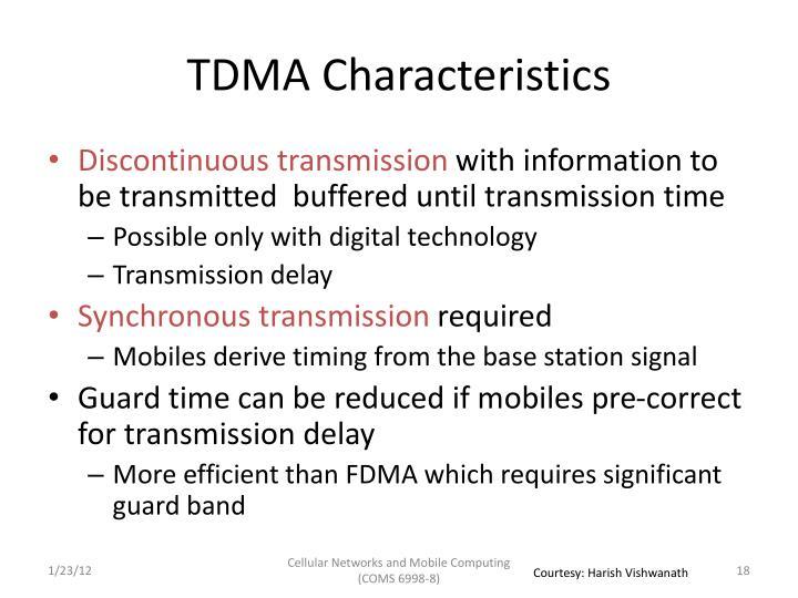TDMA Characteristics