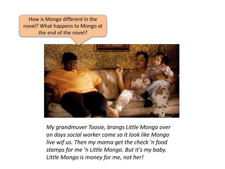 How is Mongo different in the novel? What happens to Mongo at the end of the novel?