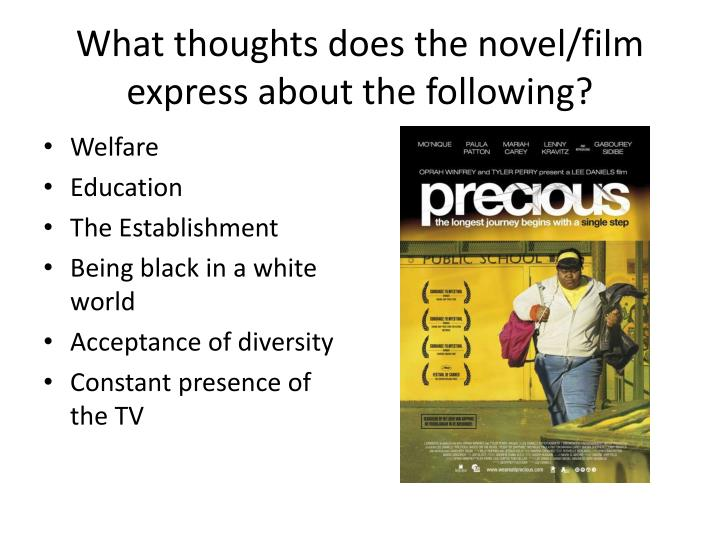 What thoughts does the novel/film express about the following?
