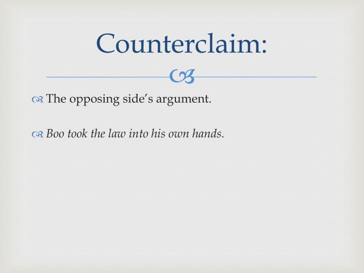 Counterclaim: