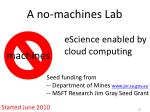 a no machines lab