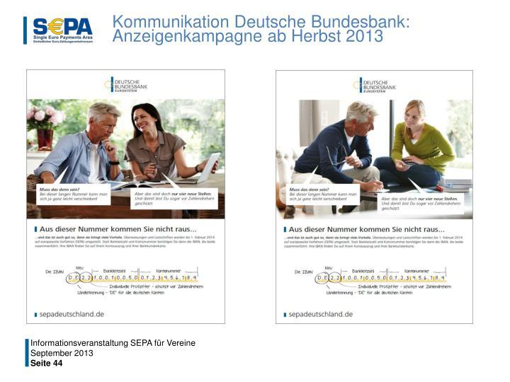 Kommunikation Deutsche Bundesbank: