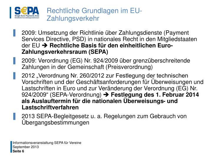 Rechtliche Grundlagen im EU-