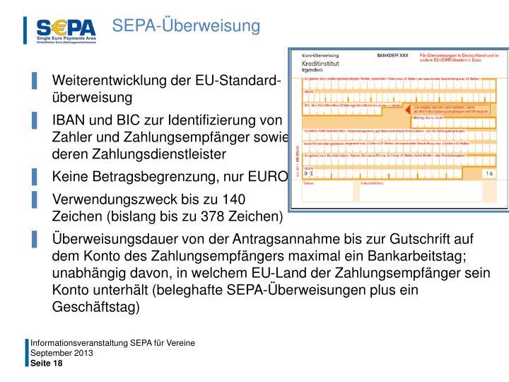 SEPA-Überweisung