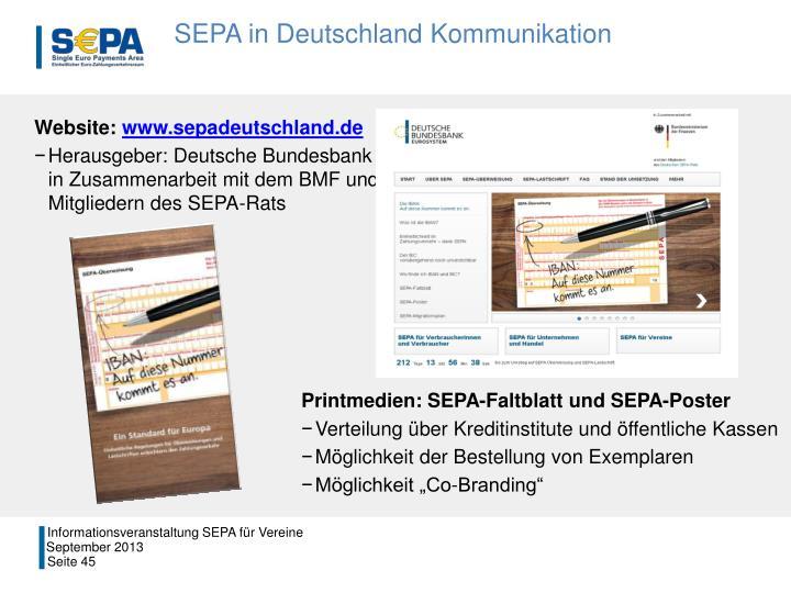 SEPA in Deutschland Kommunikation