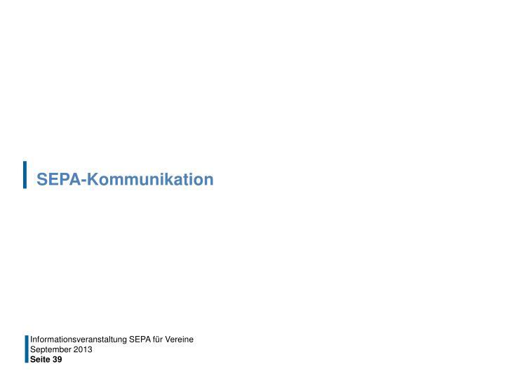 SEPA-Kommunikation