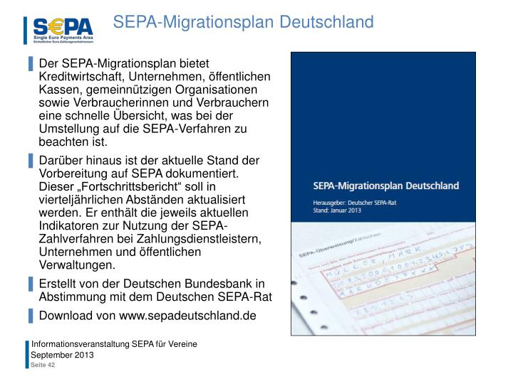 SEPA-Migrationsplan Deutschland