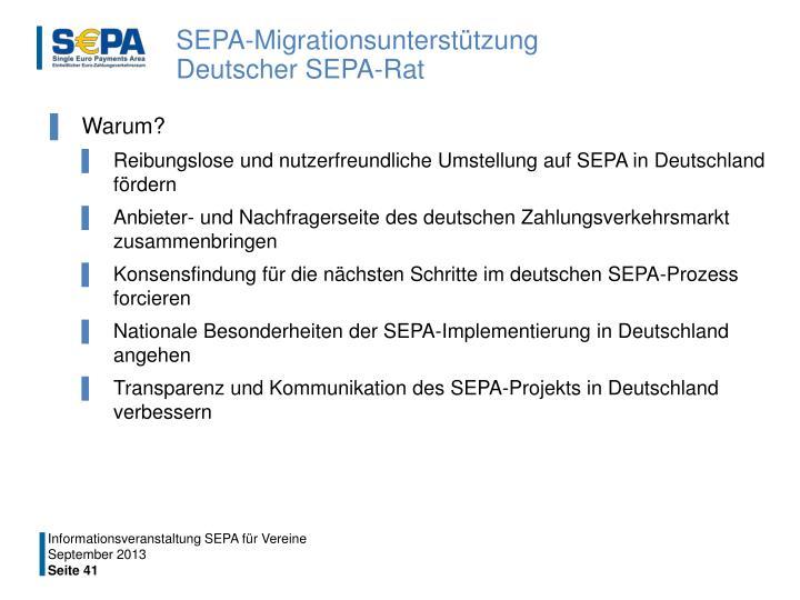 SEPA-Migrationsunterstützung