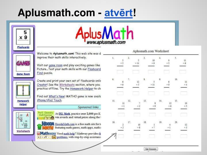 Aplusmath.com -