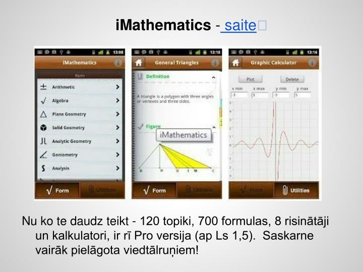 iMathematics