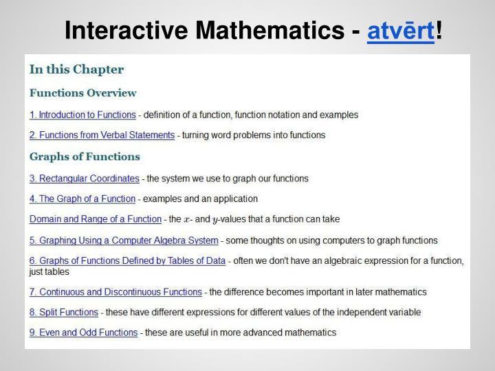 Interactive Mathematics -