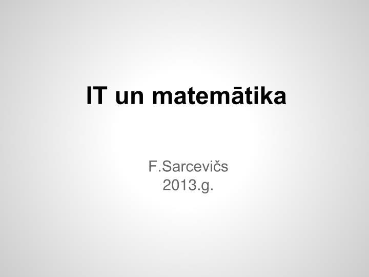 IT un matemātika