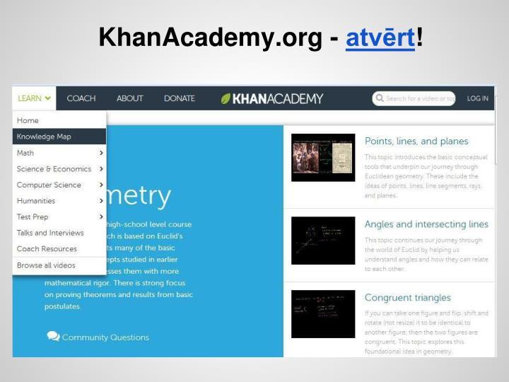 KhanAcademy.org -