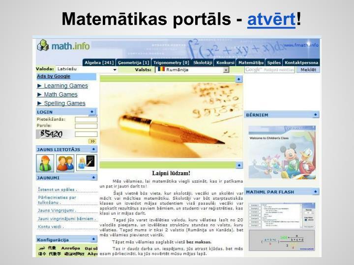 Matemātikas portāls -