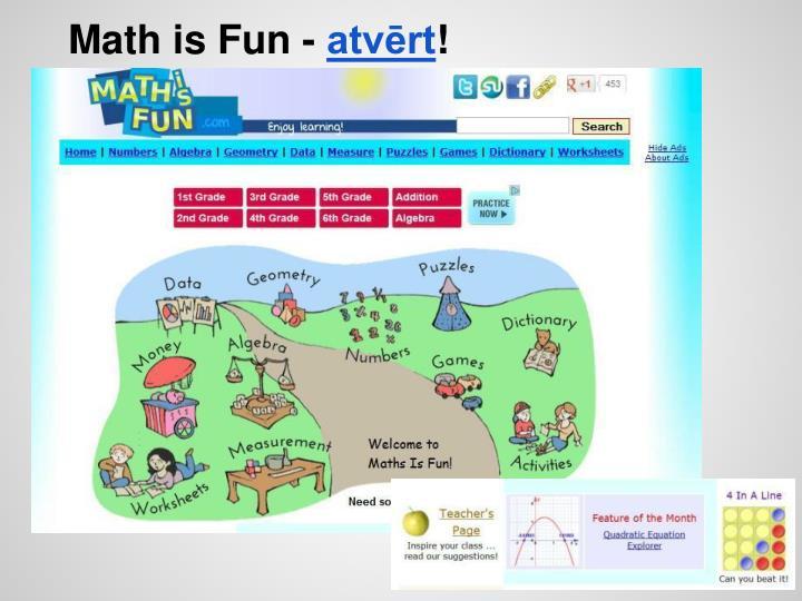 Math is Fun -