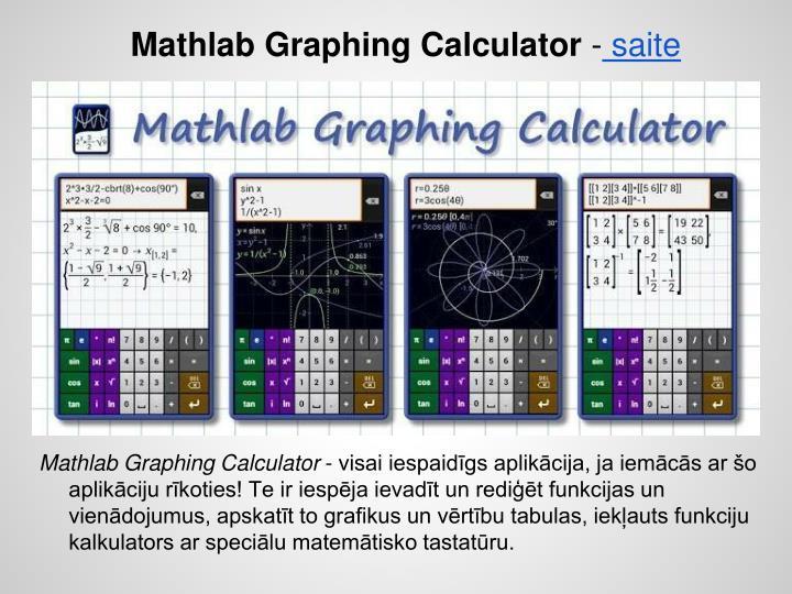 Mathlab Graphing Calculator