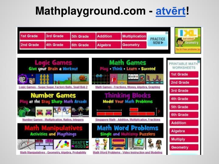 Mathplayground.com -