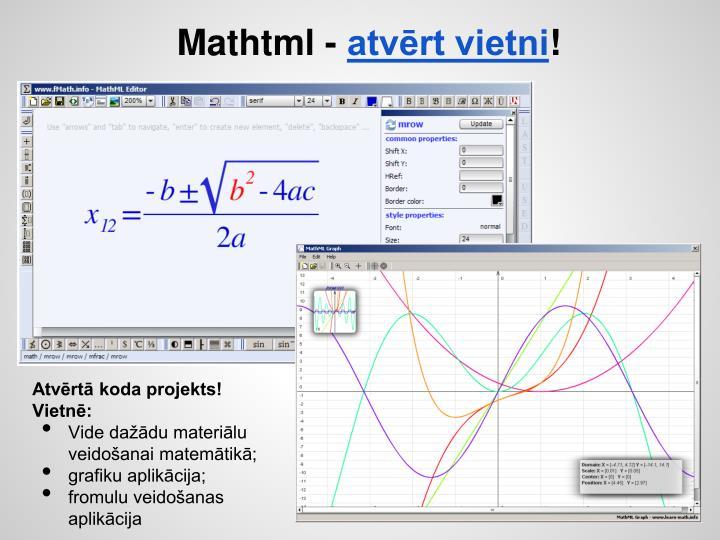 Mathtml -