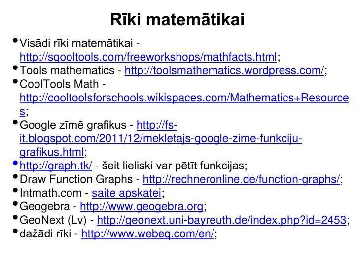 Rīki matemātikai