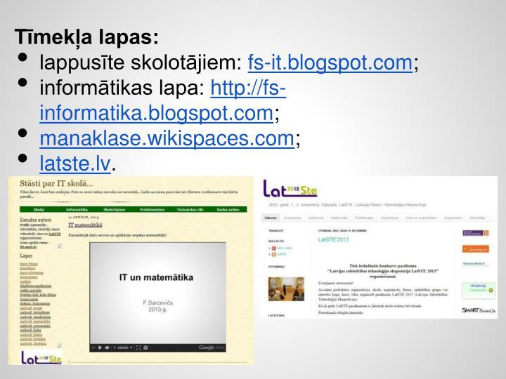 Tīmekļa lapas: