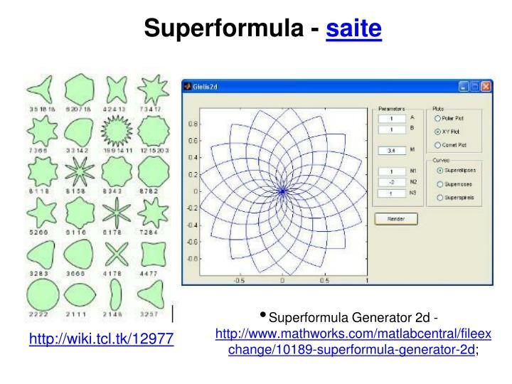 Superformula -