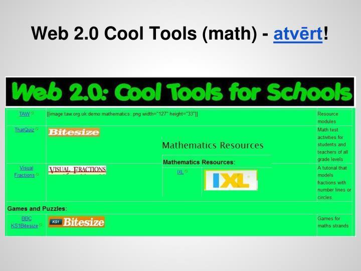 Web 2.0 Cool Tools (math) -