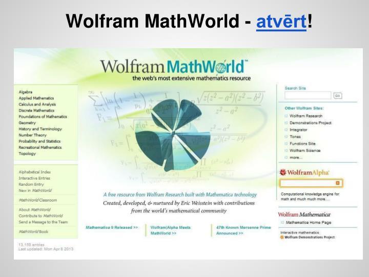 Wolfram MathWorld -