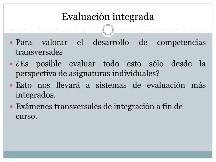Evaluación integrada