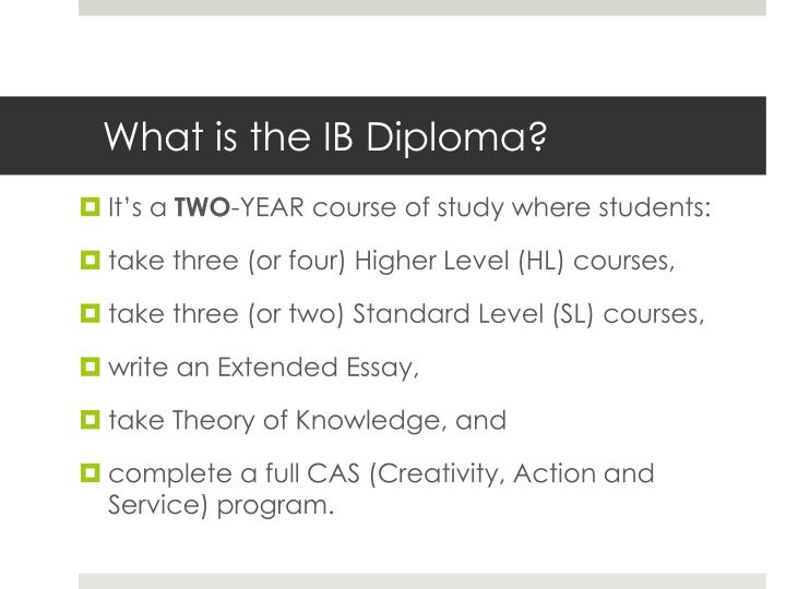 What is the ib diploma