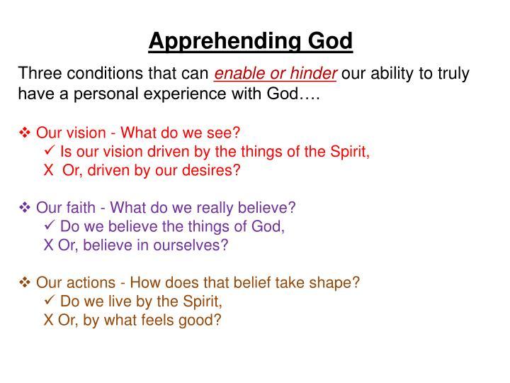 Apprehending God